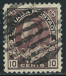 Canada #116(7) 1912 10 cent plum KING GEORGE V Used CV$6.00