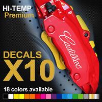 Compatible Cadillac HI-TEMP PREMIUM BRAKE CALIPER DECALS STICKERS CAST VINYL