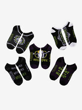 Beetlejuice Movie No-Show Socks 5 Pair Bio-exorcist Ghost With Most Mix & Match