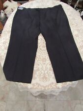 STAFFORD TRAVEL, MEN'S NEW Navy Poly Bl Flat Classic Fit Expand Pants Sz 54/29