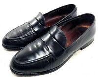 COACH Black Leather Penny Loafers Flats Shose Made In Italy Womans Size Us 8 M
