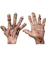 Morris Costumes Zombie Flesh Latex Hands Gloves One Size. TB25306