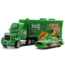 Cars Chick Hicks Mack Hauler Truck & Racer Metal Toy Car 1:55 Loose Kids Vehicle