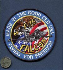 F-16 FIGHTING FALCON FFF USAF AIR GUARD FS TFS Fighter Squadron Patch