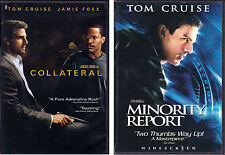 Tom Cruise Dvds: Collateral (2-Disc) + Minority Report (2-Disc, Spielberg)