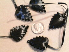 Vintage Millinery Flower Hat Swiss Lot of5 Black NS2S
