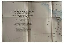 1913 Mawson - ANTARCTIC EXPEDITION - Ship Aurora - SOUNDINGS MAP -10