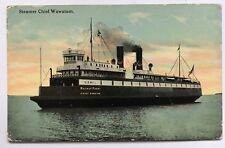 1912 Postcard Steamer Chief Wawatam Railway Ferry U.S. Mail boat ship Mackinac