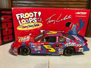 2000 Action RCCA Terry Labonte #5 Cherry Berry Swirls Clear Window Bank 1/24