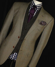 MENS BURBERRY LONDON TWEED SHOOTING BOX CHECK SPORTS SUIT JACKET 42R
