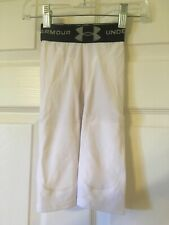 Under Armour Youth Xs 3T 4T 5T HeatGear Compression Shorts Small White Girdle