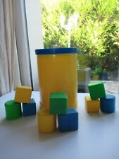 ☺ Ancienne Boite A Cube Fisher Price Vintage Année 1977
