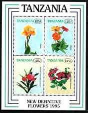 TANZANIA 1996 - BLOC FLOWERS MNH