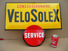 VELO-SOLEX - Rare Frenche Porcelain Enamel Sign - Emailschild - Plaque Emaillee
