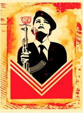 Shepard Fairey Obey Peace Guard 2 Stencil art print Lisbon Release