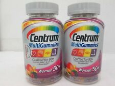 2 CENTRUM MULTIGUMMIES CRAFTED FOR WOMEN 50+ 90 GUMMIES EACH 4/21 LS 224