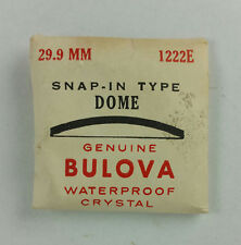 VINTAGE BULOVA SNAP IN TYPE DOME WATCH CRYSTAL - 29.9mm 1222E