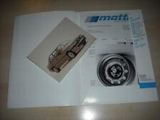55557) Opel Manta Vectra Kadett mattig Pressemappe 11/1989