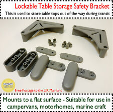 Table Top Storage Bracket Travel Stowage Kit Camper Van Houseboat Horsebox VW T4