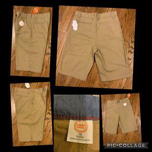 """NEW Boy's Wonder Nation Shorts Size 16 Husky Beige 10"""" Inseam 98% Cotton 2% Spnx"""