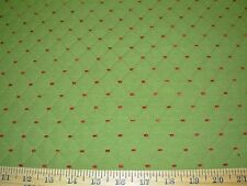 ~2 4/8 YDS~DIAMOND EMBROIDERED CHENILLE DOTS UPHOLSTERY FABRIC FOR LESS~