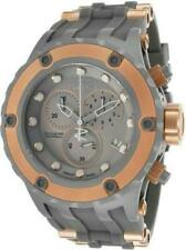 INVICTA MEN 52MM SPECIALTY SUBAQUA SHARK EDITION ROSE GOLD GREY BAND WATCH 17217