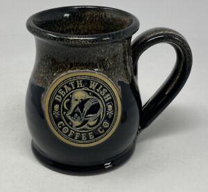 Death Wish Coffee Mug Friday 13th Black Cat Cup 2017 Low # 223 Deneen Pottery