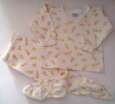 Cotton Pyjamas White with Yellow/Orange pattern of cartoon Rabbit,Cat and ...70s