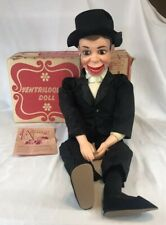 "Vtg JURO NOVELTY Charlie McCarthy Ventriloquist Doll 30"" Complete w/ Box 1968"
