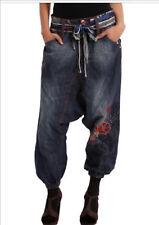 New Desigual Turko Cinturon Harem Jean Pant Sorouel Fit Blue Size 28 AU10-UK10