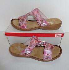 caf5bb808a Rieker Ladies Espadrilles Wedges Sling Back Beaded Pink Sandals New UK Size  8