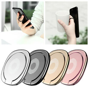 Rotating Magnetic Metal Finger Ring Holder Stand For Cell Phone Tablet iPhone