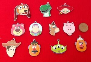 Set Of 11 Different TOY STORY Character Enamel Metal Charms For Key Chains Etc