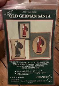 UNCUT VTG Old German Santa Appliqued  Pillow Olde Santa Series Jan Kornfeind
