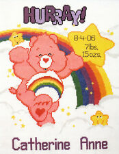 Cross Stitch Kit ~ Care Bears Sweet Dreams Birth Announcement #39202 Oop Sale!