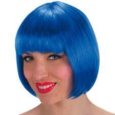 Parrucca Lovely blu cobalto caschetto con frangetta