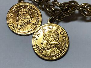 Vintage goldtone coin necklace