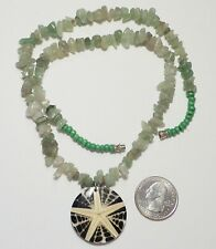 in Resin Pendant, Green Aventurine Necklace Natural Starfish & Cone Shell Slice