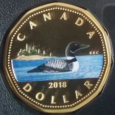 2018 Dollar Proof Pure Silver $1 Colourised Coin Canadian Loon Loonie ClassicRCM