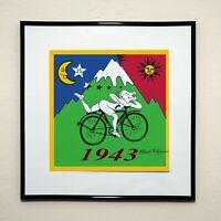Plakat Bicycle Day 1943 Albert Hofmann Signiert Signed Autograph Autogramm