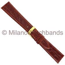 20mm Morellato Leather Crocodile Grain Tan Padded Stitched Mens Watch Band 1563