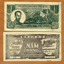 Vietnam (North), 5 Dong, ND (1948), Pick 17, Circulated > First Indochina War