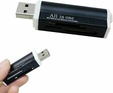 Mini Kartenleser USB Stick Micro SD MMC SDHC M2 Speicher Card Reader Adapter DE