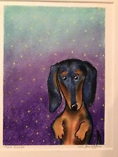 Original Pastel Painting by Lee Vandergrift Florida artist Dachshund Dog