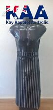 Butchers Apron Waist Black White Vertical Pinstripe Apron 80x85cm KINGAROY QLD