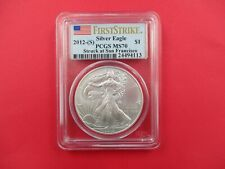2012 (S)  American Silver Eagle Dollar PCG MS 70 First Strike