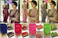 Designer Saree Pakistani Ethnic Sari Blouse Party Wear Saree Sari Indian PC
