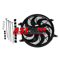 "14"" 12V 80W Slim Fan Push Pull Electric Radiator Cooling Mount Kit Universal PRO"