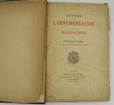 1880 Medieval Manuscript Illumination/Decoration history Ferdinand Denis french