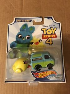 Disney Pixar Hot Wheels Toy Story 4 DUCKY and BUNNY Vehicle Character Cars #8